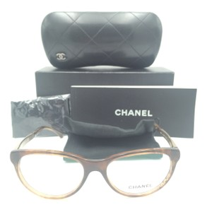 4becb22e437 Chanel Chanel Cat Eye Tortoise and Gold Tweed Eyeglasses 3333 1525 Rx
