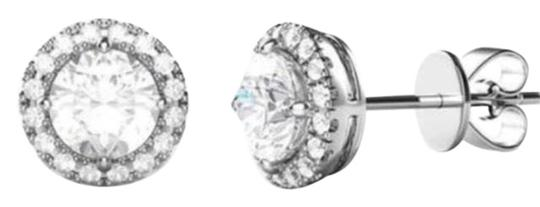 3 44 Cttw Round Halo Stud With Swarovski Elements In Sterling Silver Earrings 55 Off Retail