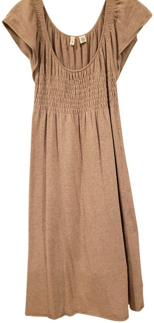 Item - Taupe Sweater Mid-length Short Casual Dress Size 0 (XS)