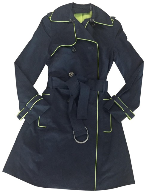 Navy Blue Double-breasted Coat Size 0 (XS) Navy Blue Double-breasted Coat Size 0 (XS) Image 1