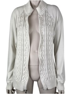 Croft & Barrow Zipper Cable Knit Long Sleeve Mock Turtle Stretchy Sweater
