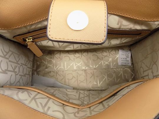 Calvin Klein Faux Leather New With Tag Satchel in Brown Image 1