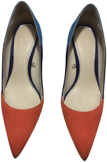 Item - Multi (Orange Turquoise Dark Blue and Pink Heels Pumps Size EU 40 (Approx. US 10) Regular (M, B)