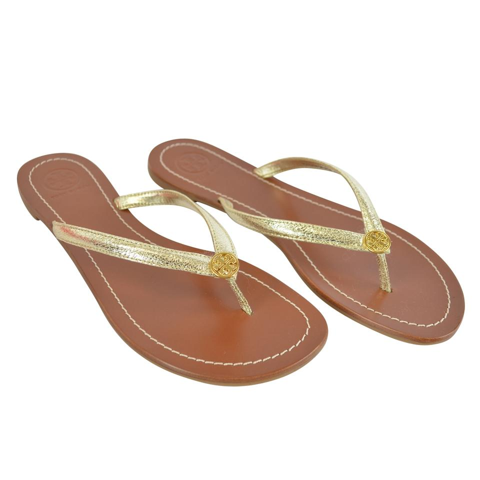 7c03d245dfa8 Tory Burch Terra Thong Metallic Spark Gold Sandals Image 0 ...