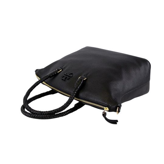 Tory Burch Taylor Slouchy Satchel in Black Image 7
