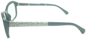 Chanel Chanel Cat Eye Black and Silver Studded Eyeglasses 3298-B c.501 53 Rx