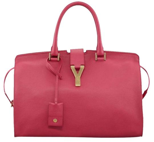 Preload https://img-static.tradesy.com/item/25270449/saint-laurent-nwts-ysl-large-y-ligne-cabas-fuschia-leather-satchel-0-1-540-540.jpg