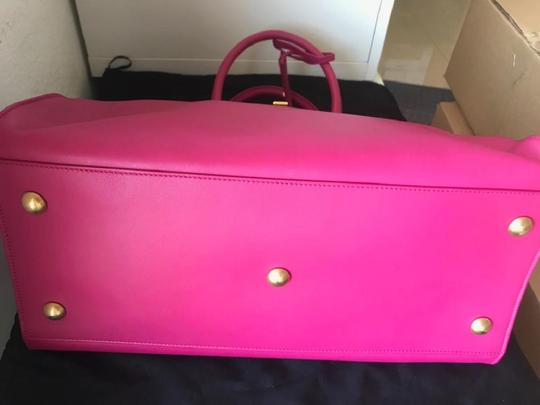 Saint Laurent Satchel in FUSCHIA Image 10