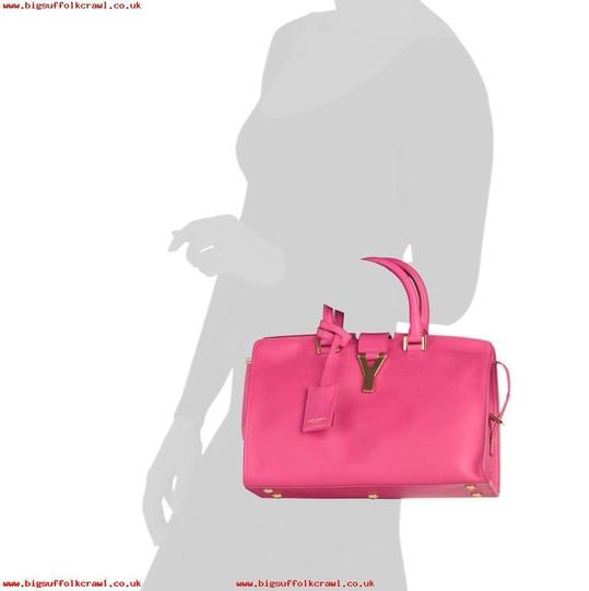 Saint Laurent Satchel in FUSCHIA Image 2