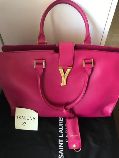 Saint Laurent Satchel in FUSCHIA Image 3
