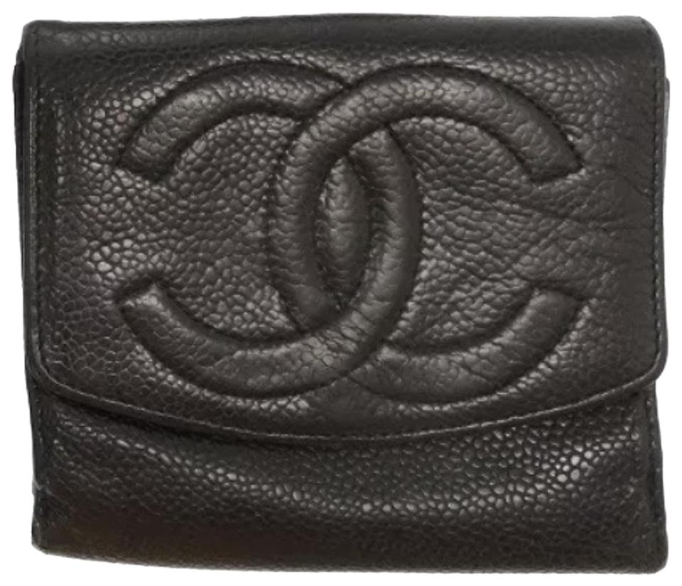 6d696c473497 Chanel Travel Leather Cc Card Coin Cash Pouch Purse Mini Id Leather Holder  Black Clutch Image ...