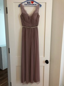 BHLDN Violet Gray Tulle Fleur By Hitherto Feminine Bridesmaid/Mob Dress Size 4 (S)