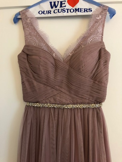 BHLDN Violet Gray Tulle Fleur By Hitherto Feminine Bridesmaid/Mob Dress Size 4 (S) Image 1