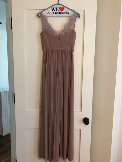 BHLDN Violet Gray Tulle Fleur By Hitherto Feminine Bridesmaid/Mob Dress Size 4 (S) Image 2