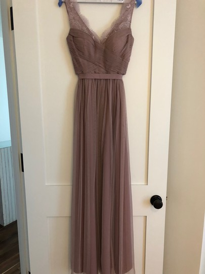 BHLDN Violet Gray Tulle Fleur By Hitherto Feminine Bridesmaid/Mob Dress Size 4 (S) Image 3