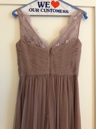 BHLDN Violet Gray Tulle Fleur By Hitherto Feminine Bridesmaid/Mob Dress Size 4 (S) Image 4