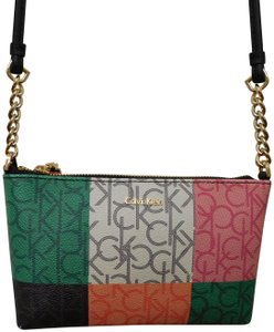 Calvin Klein New With Faux Leather Cross Body Bag