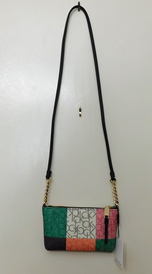 Calvin Klein New With Faux Leather Cross Body Bag Image 1