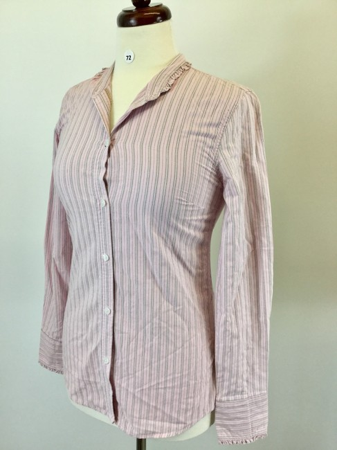 American Eagle Outfitters Button Down Shirt Pink Image 1