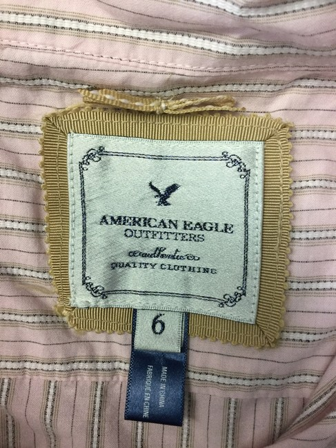 American Eagle Outfitters Button Down Shirt Pink Image 3