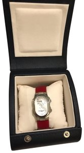Philip Stein Philip Stein Signature Ladies Red Leather Strap Dual Time Watch 1-CMOP