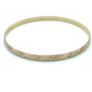 Other (836) 14k yellow gold tri color bangle