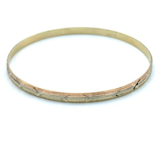 Other (836) 14k yellow gold tri color bangle Image 0