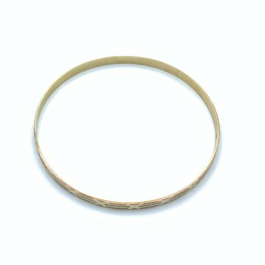 Other (836) 14k yellow gold tri color bangle Image 1
