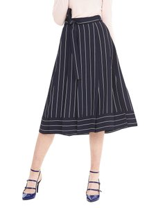 Banana Republic Striped Nautical High Waist Full Skirt