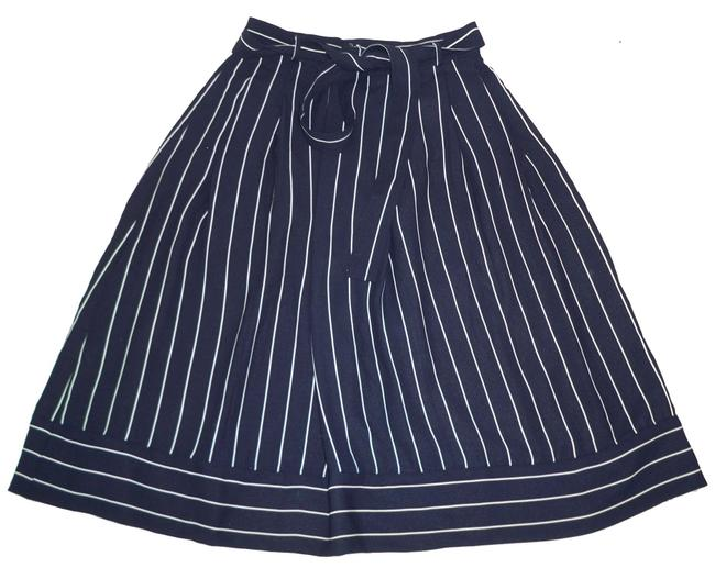 Banana Republic Striped Nautical High Waist Full Skirt Image 1