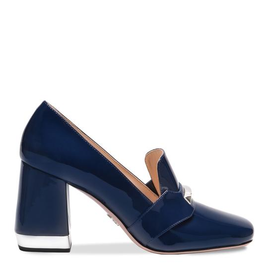 Preload https://img-static.tradesy.com/item/25270971/prada-blue-shiny-leather-loafers-pumps-size-eu-365-approx-us-65-regular-m-b-0-0-540-540.jpg