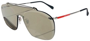 Prada New Shield 90's Style Mirrored SPS 51T 1BC-128 Free 3 Day Shipping