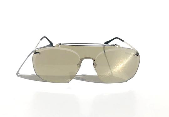 Prada New Shield 90's Style Mirrored SPS 51T 1BC-128 Free 3 Day Shipping Image 1