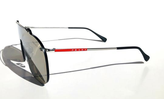 Prada New Shield 90's Style Mirrored SPS 51T 1BC-128 Free 3 Day Shipping Image 11