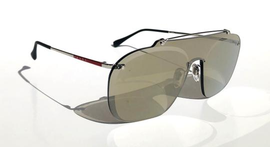 Prada New Shield 90's Style Mirrored SPS 51T 1BC-128 Free 3 Day Shipping Image 2