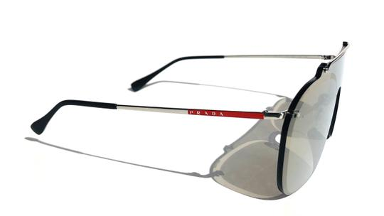 Prada New Shield 90's Style Mirrored SPS 51T 1BC-128 Free 3 Day Shipping Image 3