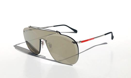 Prada New Shield 90's Style Mirrored SPS 51T 1BC-128 Free 3 Day Shipping Image 4