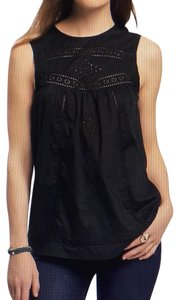 Old Navy Embroidered Top Black