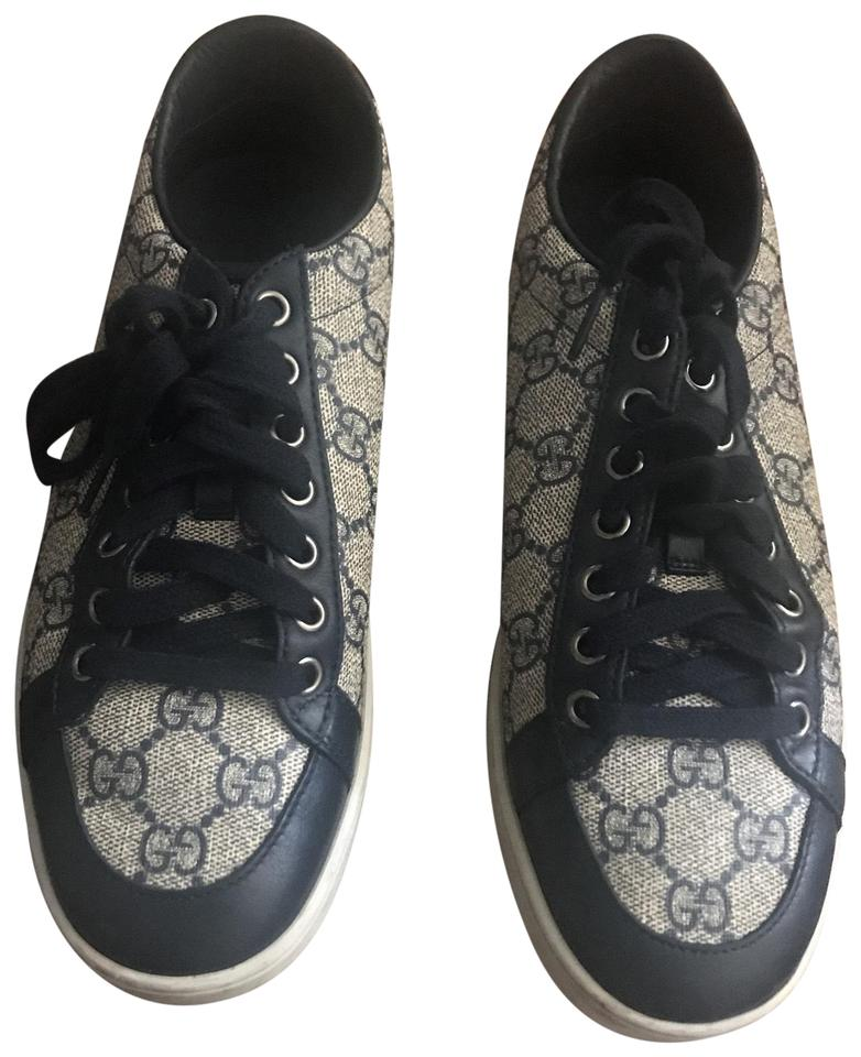 870a161fa2c8f Navy and Grey Gg Monogram Sneakers Size US 8 Regular (M, B) 40% off retail