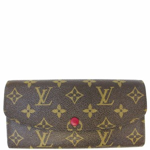 9dfd077bf8c73 Louis Vuitton Brown Emilie Monogram Canvas Fuchsia Wallet - Tradesy