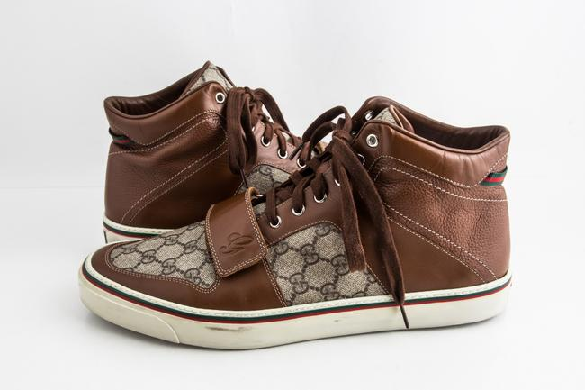 Item - Brown Leather Praga Lace Up Sneakers Shoes