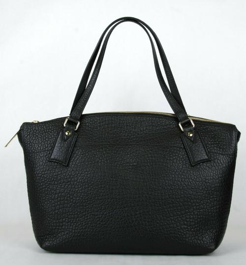 Burberry Grain Leather Medium Welburn Tote in Black Image 3