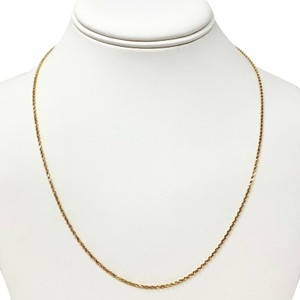 Other 14k Solid Gold Thin 1.5mm Diamond Cut Aurafin Rope Chain Necklace 20