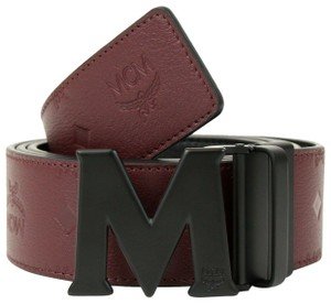 78d95861b82 MCM Leather Reversible Embossed Monogram Belt 2XL MXB8AMM48NK130