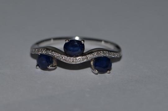 Other 14k White Gold Sapphire Ring Image 1