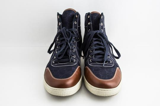 Gucci Blue Nylon Navy Coda High Top Sneakers Shoes Image 1