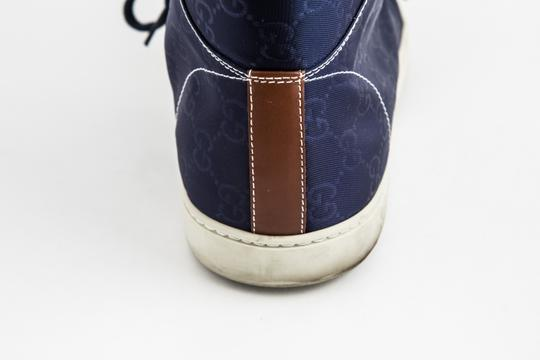 Gucci Blue Nylon Navy Coda High Top Sneakers Shoes Image 10
