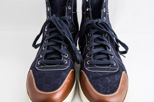 Gucci Blue Nylon Navy Coda High Top Sneakers Shoes Image 11