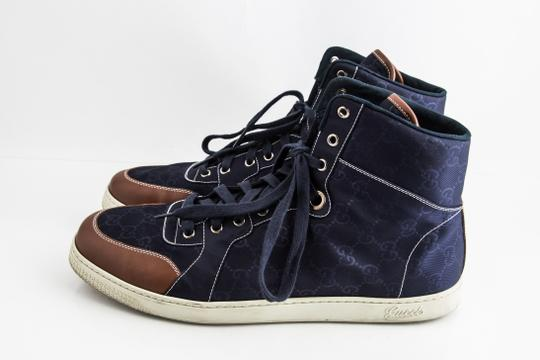 Gucci Blue Nylon Navy Coda High Top Sneakers Shoes Image 2
