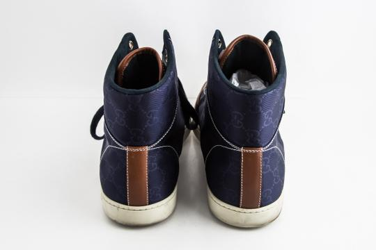 Gucci Blue Nylon Navy Coda High Top Sneakers Shoes Image 4